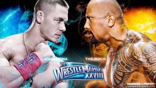 Greeny Wallpapers: John Cena VS The Rock